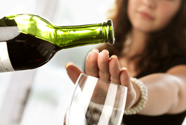 Отказ женщины от алкоголя