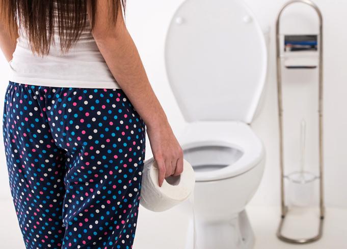 Женщина в туалете